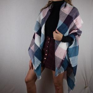 Accessories - Plaid Blanket Scarf NWOT